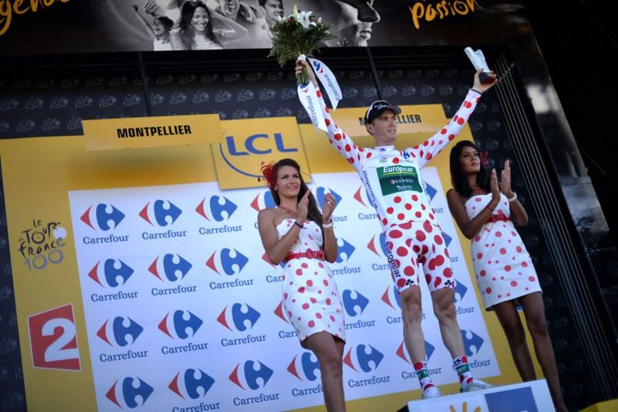 Un Français, Pierre Rolland, a également ce même plaisir avec son maillot à pois