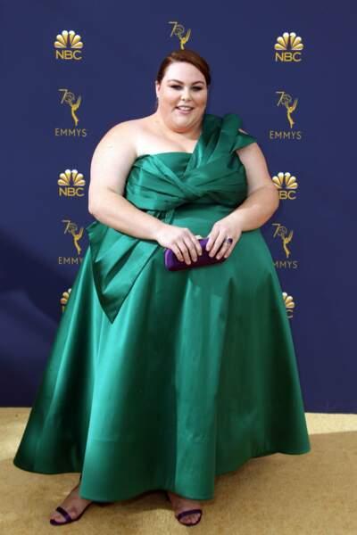 Chrissy Metz, ravissante lors des Emmys Awards, s'est dévoilée dans une robe verte