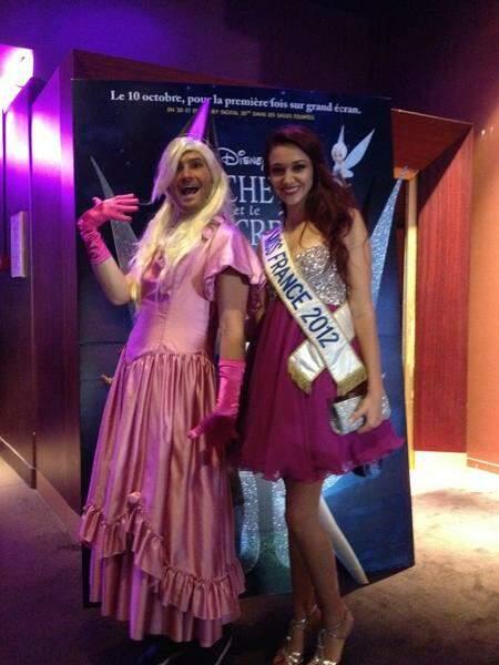 Christophe Beaugrand et Miss France 2012 étaient à la projection de La Fée Clochette