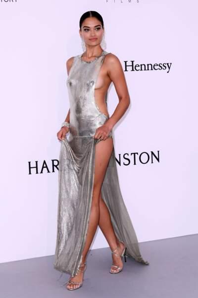 Shanina Shaik, over sexy en robe très (très) échancrée !