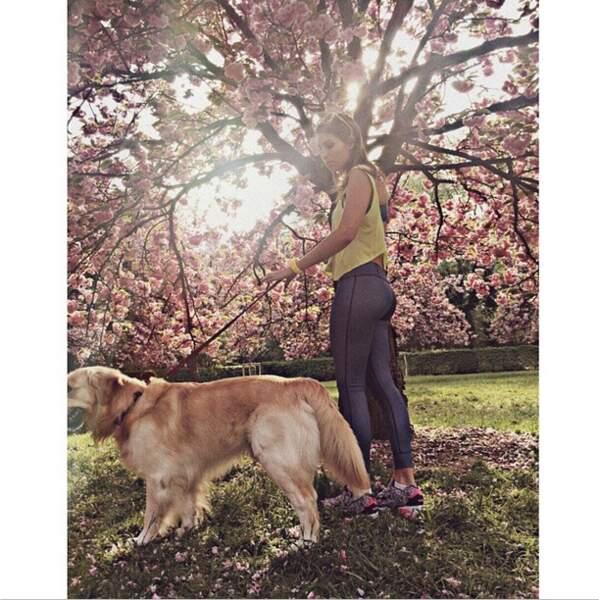 ... Et s'est baladée avec son chien