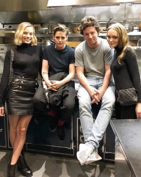 Il y avait du beau monde chez Jean Imbert : Margot Robbie, Kristen Stewart et Lily-Rose Depp.
