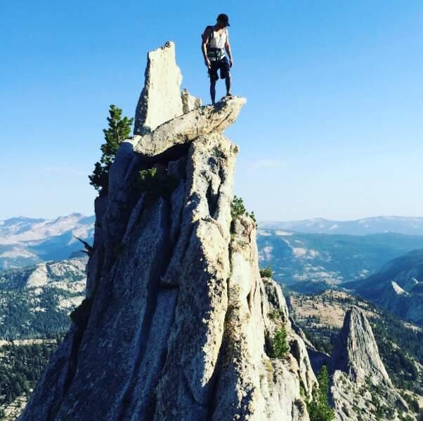 ... qui n'avait décidément pas le vertige tout en haut de Yosemite !