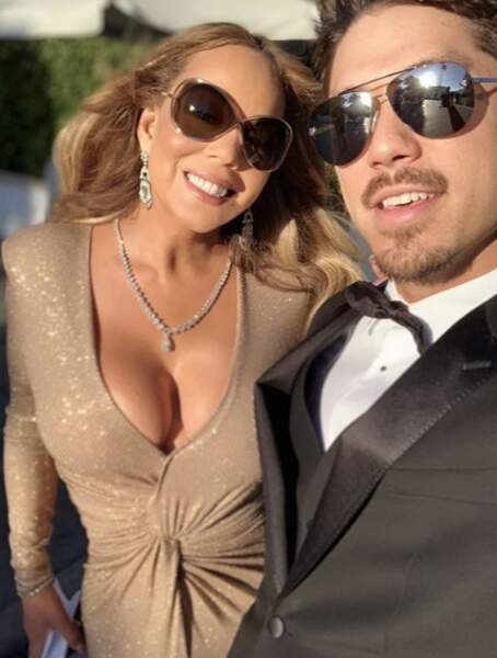Mariah Carey était de mariage et de toute beauté.
