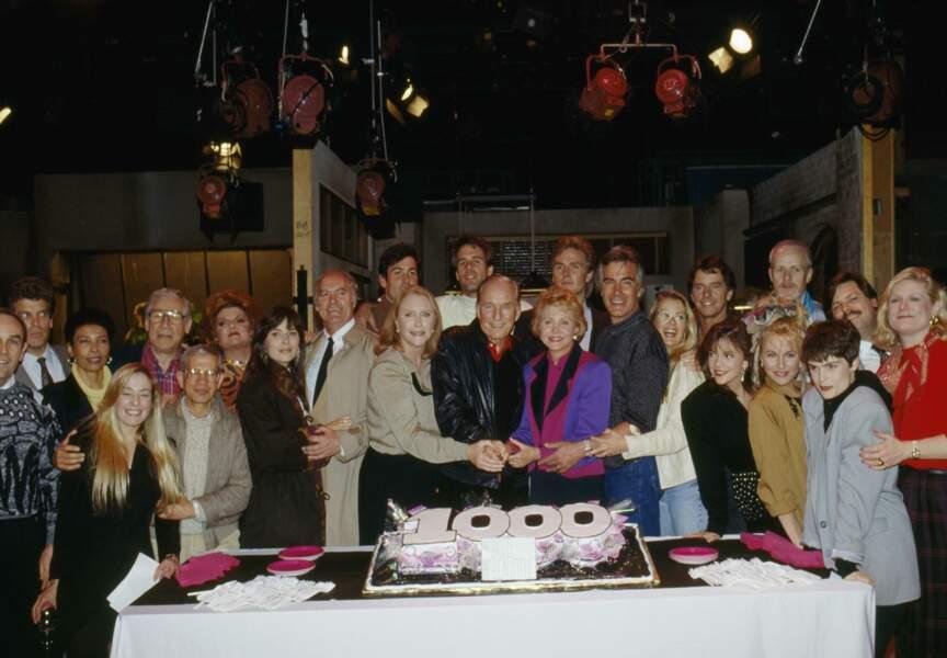 Les anniversaires se sont succédé en plus de 30 ans sur le plateau d'Amour, gloire et beauté, ici en 1991