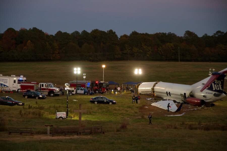 Flight (2012) : les restes de l'avion