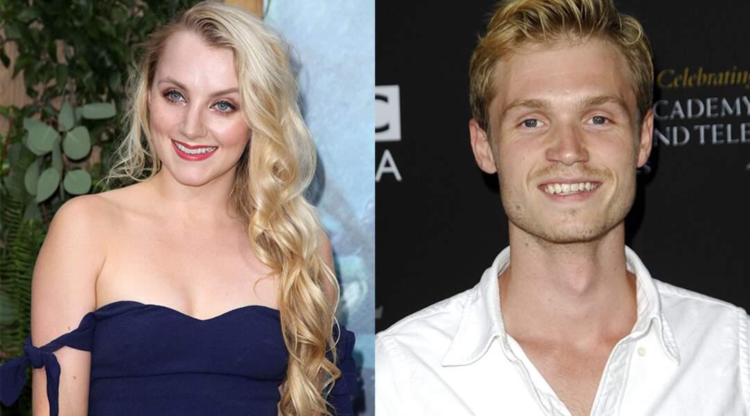 Les acteurs de la saga Harry Potter Evanna Lynch et Robbie Jarvis, en couple depuis 2015.