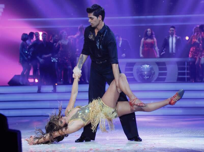 Laetitia Milot et Christophe Licata à la première de la tournée Danse avec les stars à Bercy