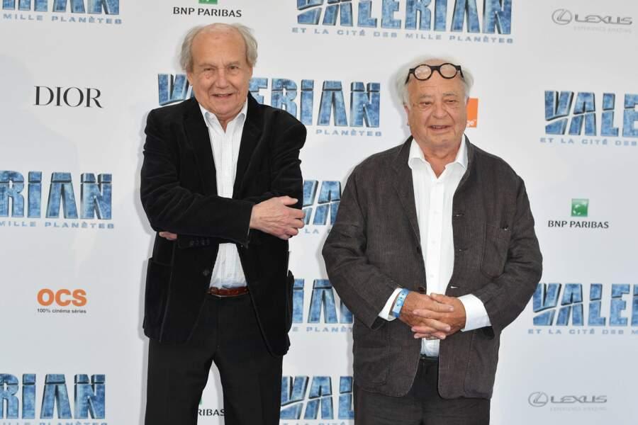 Pierre Christin et Jean-Claude Mezieres, les créateurs de la BD Valerian, sont aussi de la fête