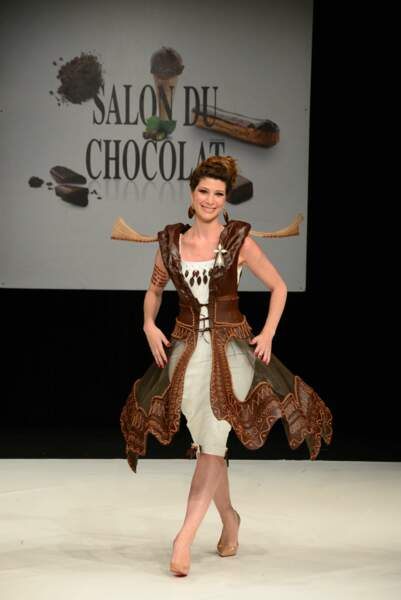 Chloé Nabédian radieuse au Salon du Chocolat 2017