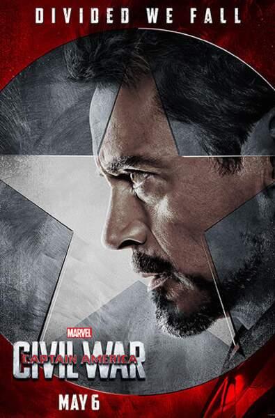 Tony Stark alias Iron Man, chef de file de la Team Iron Man