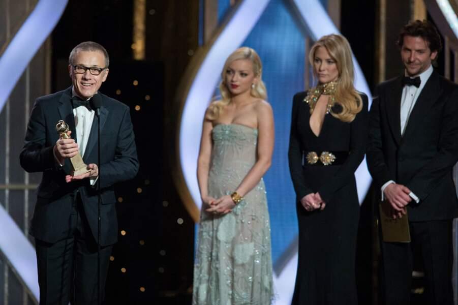 Christopher Waltz est sacré meilleur acteur dans un second rôle pour Django Unchained de Quentin Tarantino.