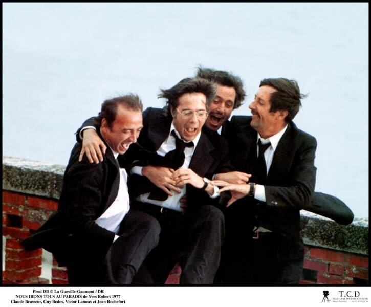 Brasseur, Bedos, Lanoux, Rochefort : la belle brochette de comédiens de Nous irons tous au paradis (1977)