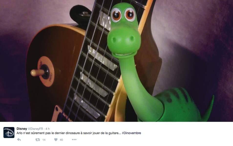 Qui a dit qu'un dinosaure ne savait pas jouer de la guitare ?