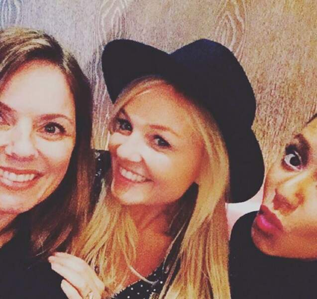 Emma Lee Bunton avec deux des Spice Girls