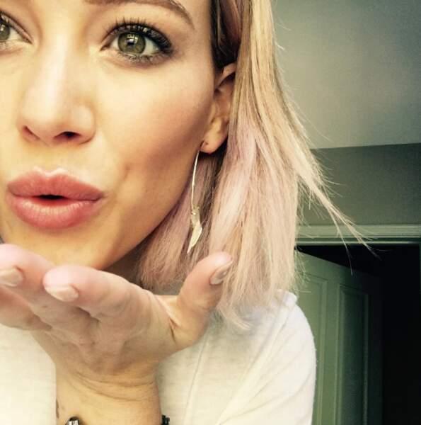 Et pour finir, Hilary Duff vous embrasse tous !