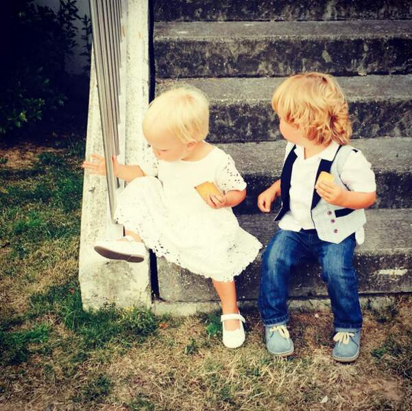 Voici les plus jeunes jumeaux d'Elodie Gossuin, beaucoup trop mignons.