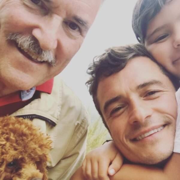 Et on adore cette photo de famille d'Orlando Bloom : 3 générations pour le prix d'une.