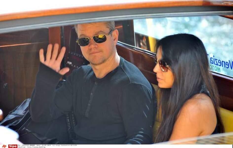 Oui oui Matt Damon, on t'a vu. Re-coucou !