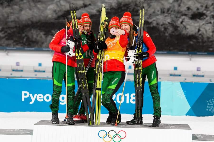 Hashtag podium olympique
