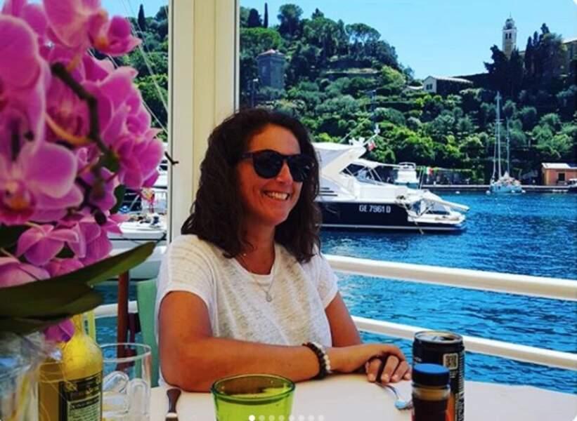 Valérie Benaïm s'est envolée pour l'Italie et du magnifique port de Portofino