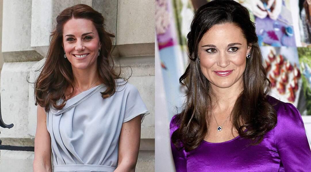 Kate Middleton, Duchesse de Cambridge, et sa soeur Pippa Middleton, remarquée lors de son mariage.