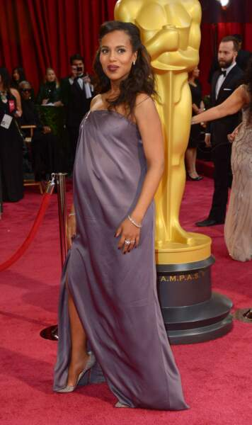 Ici en mars dernier pour la cérémonie des Oscars. Elle était alors enceinte de son premier enfant