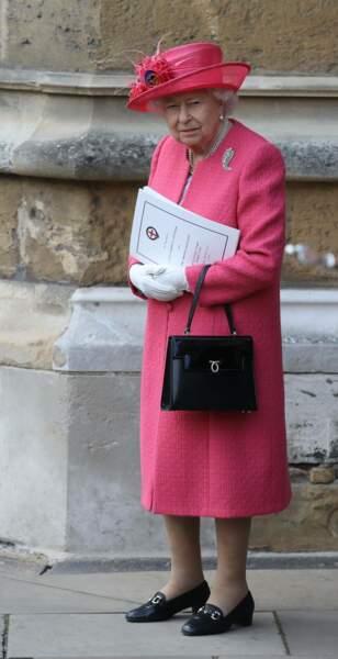 La reine Elizabeth II assistait évidemment au mariage de la fille du prince Michael de Kent, son cousin préféré