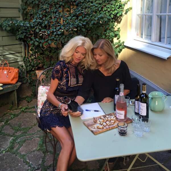 Victoria Silvstedt a goûté à sa propre vin.