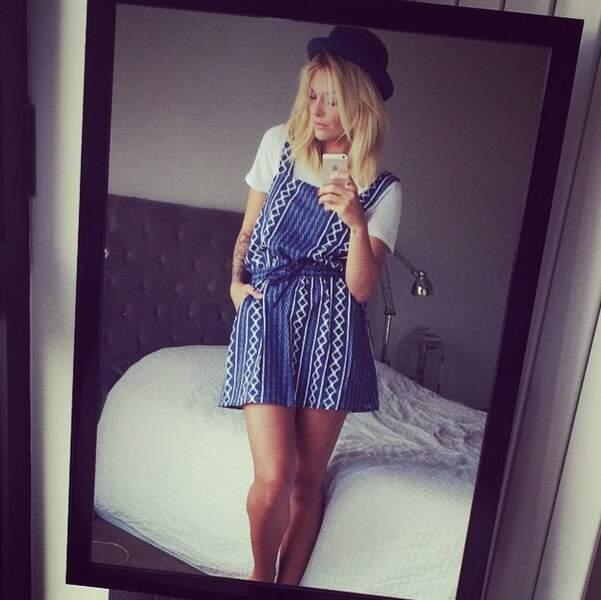 et look bohème avec cette petite robe bleue...