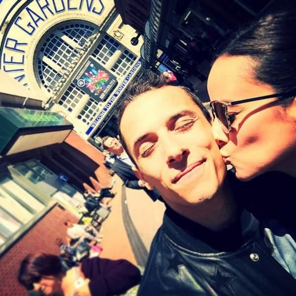 Alizée et Grégoire Lyonnet, toujours aussi amoureux, au Royaume-Uni. Le couple ne se quitte plus !