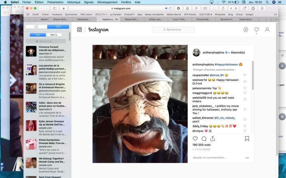 Anthony Hopkins est proprement terrifiant avec ce masque