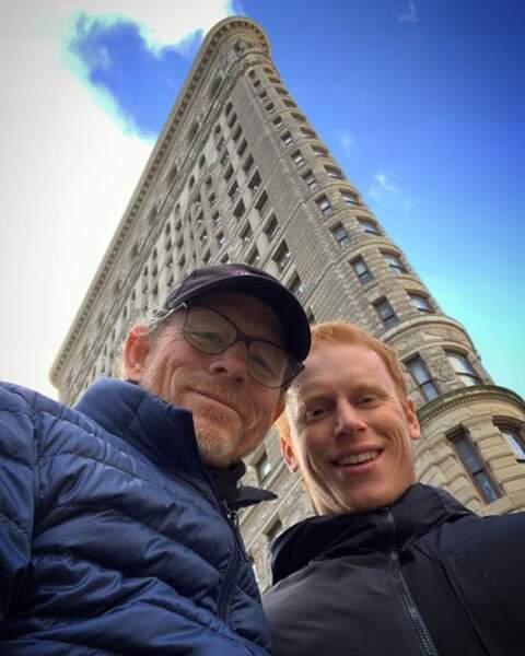 Ron Howard et son fils Reed ont pris la pose à New York.