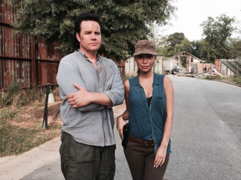 Rosita Espinosa et Josh McDermitt inséparables sur le tournage.