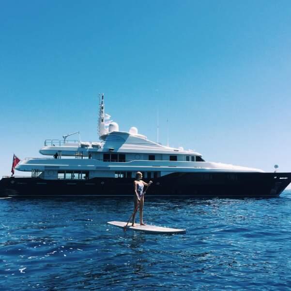 La top-model Alexa Dol au Cap d'Ail, dans le sud de la France.