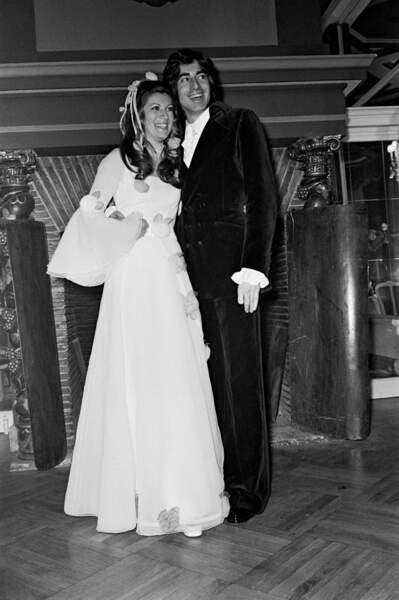 Sheila et Ringo lors de leur mariage en 1973