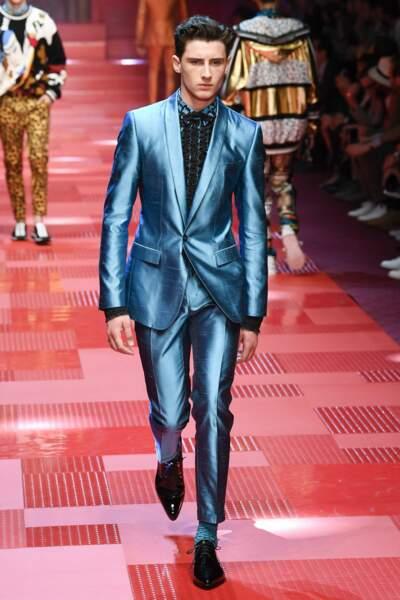 Noe Elmaleh, le fils de Gad Elamleh et d'Anne Brochet à Milan pour Dolce & Gabbana.