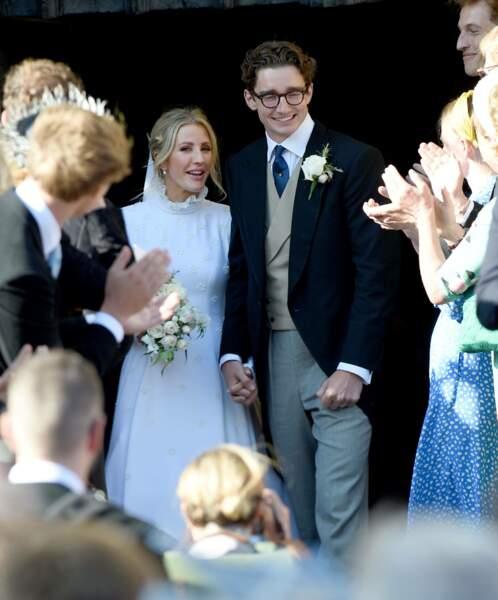 Ellie Goulding et Caspar Jopling acclamés à la fin de la cérémonie