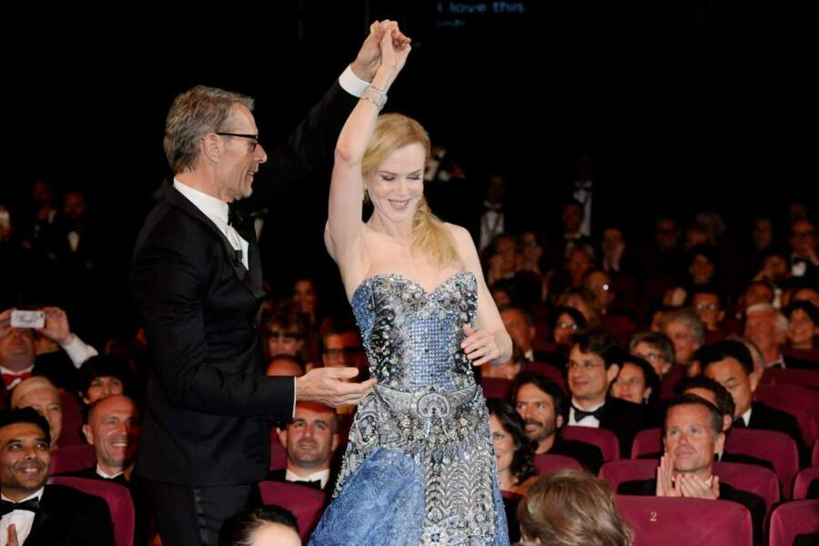 Nicole Kidman a accordé une petite danse à Lambert Wilson.