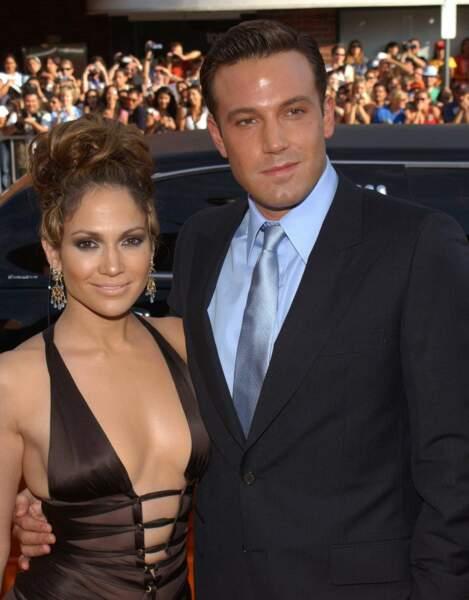 Ben Affleck et sa précédente compagne, la chanteuse Jennifer Lopez