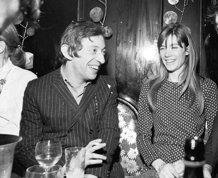 Petite robe façon pied-de-poule pour la soirée Bonnie and Clyde organisée par Gainsbourg (1968).