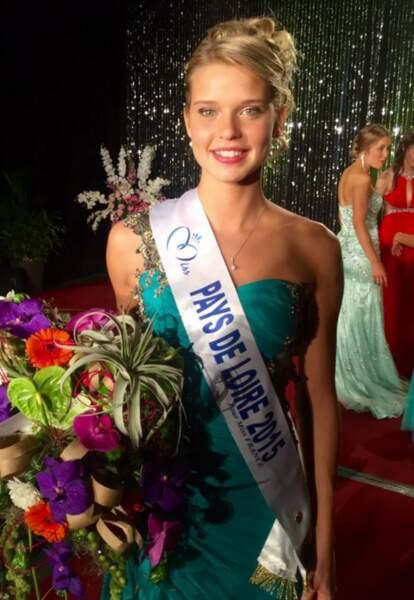 Cette jolie blonde, c'est Angelina Laurent, miss Pays-de-Loire 2015