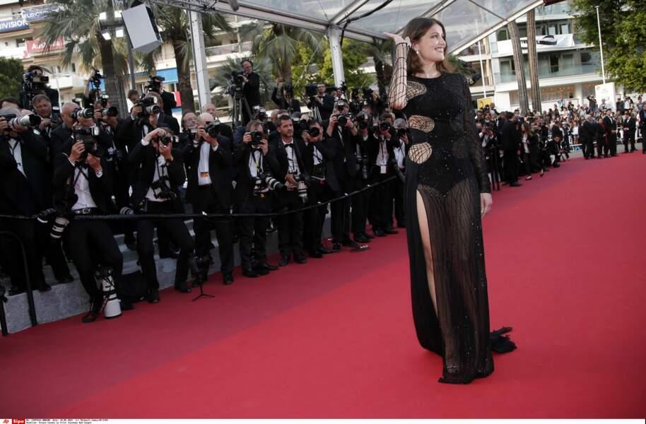L'actrice est venue fouler les marches du Palais des festivals pour assister à la projection de La fille Inconnue