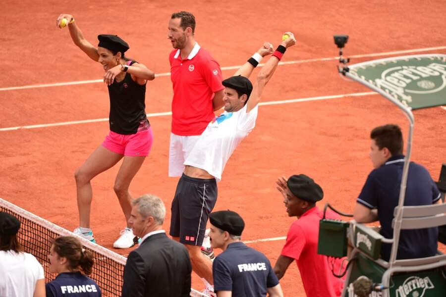Christine Arron et Novak Djokovic déchaînés face à un Michael Llodra de marbre