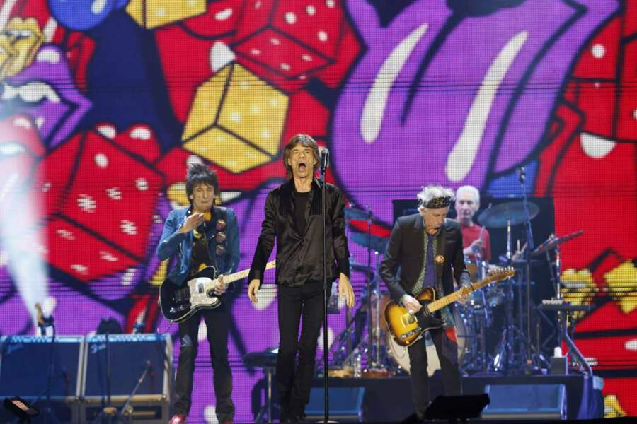 Les Rolling Stones en concert à Tokyo le 26 février 2014