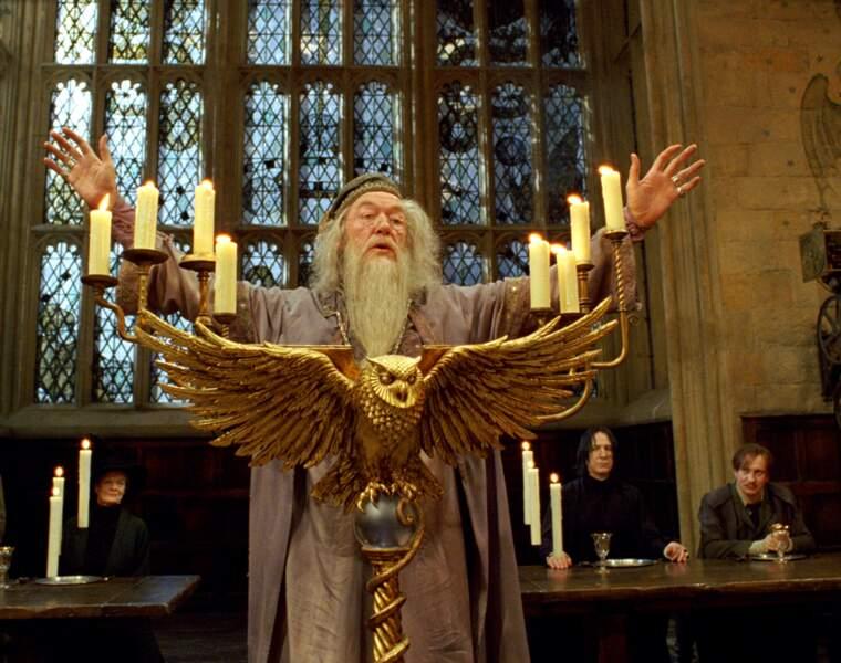 Disparu en 2002, Richard Harris est remplacé par Michael Gambon dès le troisième volet d'Harry Potter