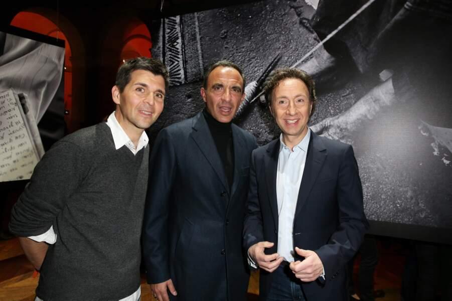 Thomas Sotto et Stéphane Bern, ses amis animateur, étaient présents