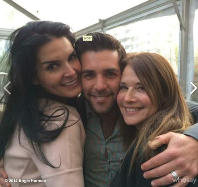 Angie Harmon avec Jordan Bridges (Rizzoli Junior) et Lorraine Bracco (Angela Rizzoli)