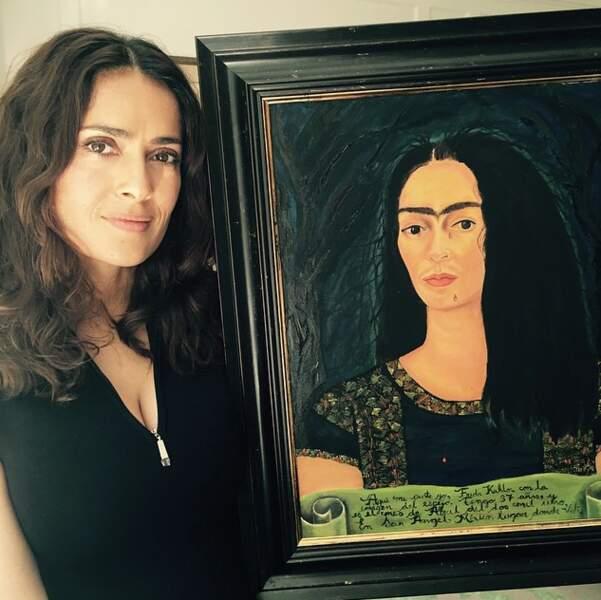 Elle aime beaucoup l'art et elle peint elle-même. Ici un portrait de l'artiste Frida Kahlo