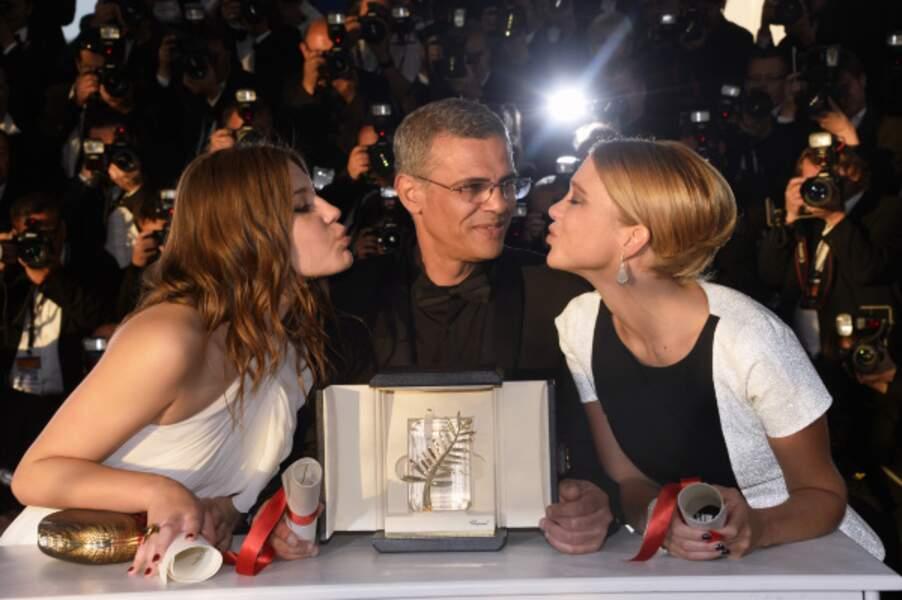 Un baiser pour Abdellatif Kechiche de la part Lea Seydoux et d'Adele Exarchopoulos !